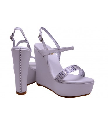 Lou bridal wedge sandals Eva