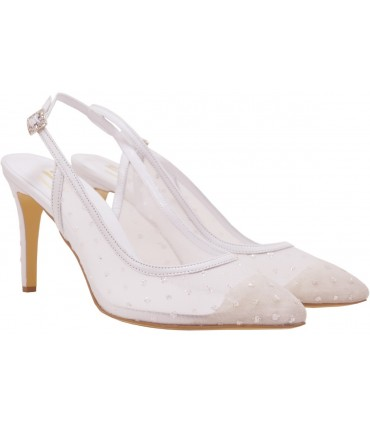 Lou bridal sligback pumps Kallisti 85