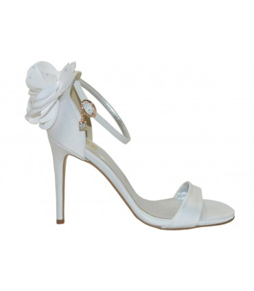 Lou bridal-evening sandals Peony strass