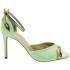 Custom Lou bridal evening sandals Stella AQUA