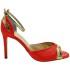 Custom Lou bridal evening sandals Stella RED