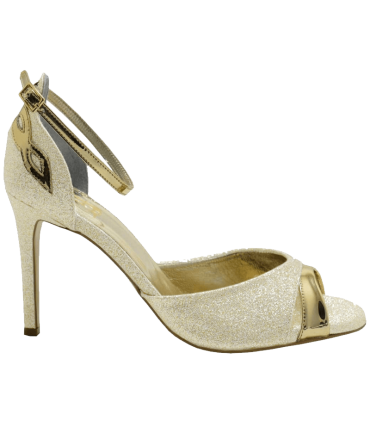 Custom Lou bridal evening sandals Stella WHITE