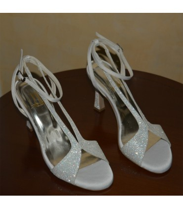Angela Lou bridal sandals