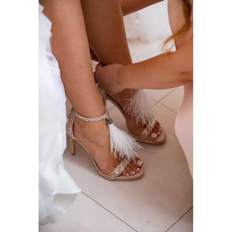 Lou bridal-evening sandals Passion