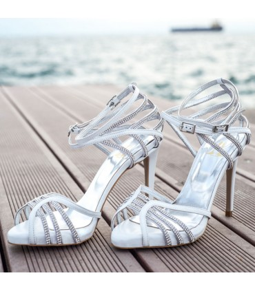 Celia Lou bridal sandals