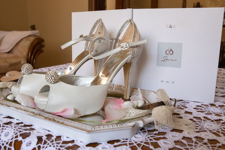 Alessandra Lou bridal shoes.