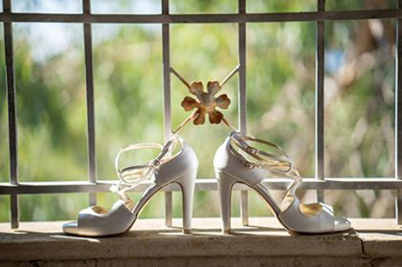 Lou bridal sandals Scarlett