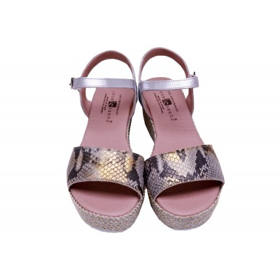 JOSE SAENZ WEDGE SANDALS PYTHON