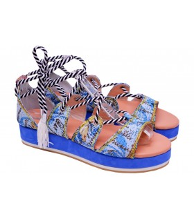 LOU WEDGES SANDALS ETHNIC